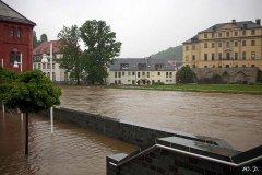 Hochwasser Weiße Elster in Greiz (Bild: W. Preißler)